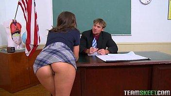 InnocentHigh brunette schoolgirl teen Olivia Wilder hardcore fucking teacher