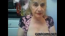 Old Granny Flashes her Tits on Webcam - More at cuntcams.net 3 min