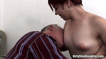 Naughty Stepdaughter Crawling Over Stepdad's Bed