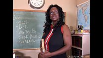 Sexy mature black teacher fucks her juicy pussy for you