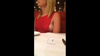 milf show her boobs in restaurant 64 sec