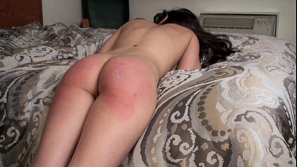 Casey Calvert paddled across bareass by her Daddy 10 min