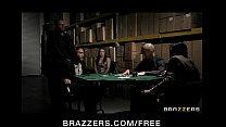 Horny brunette wife in lingerie fucks to pay husband's poker debt 7 min