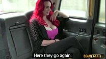 Amazing big tits lady down for sex to get a free taxi ride