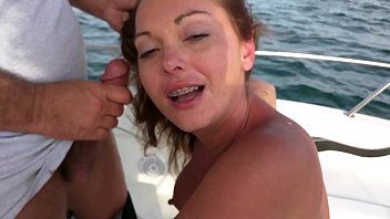 Wife giving a friend a blow job while four of us watch him bust his load on her