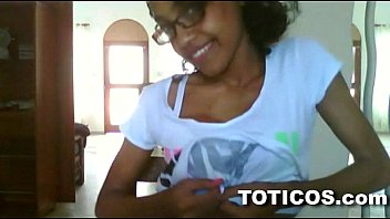 Toticos.com - fine ass dominican girl with glasses gets naked on live webcam 13 min