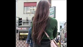 Candid Asian Miniskirt Street Creepshot 20 sec