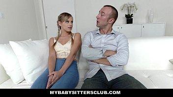 MyBabySittersClub - Teen Babysitter (Jillian Janson) Gets Tight Pussy Fucked