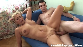 Energetic Granny Sucking And Fucking Young Cock