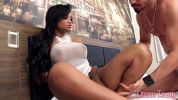 Sexy tranny Andrezza Lyra fucks her boyfriend
