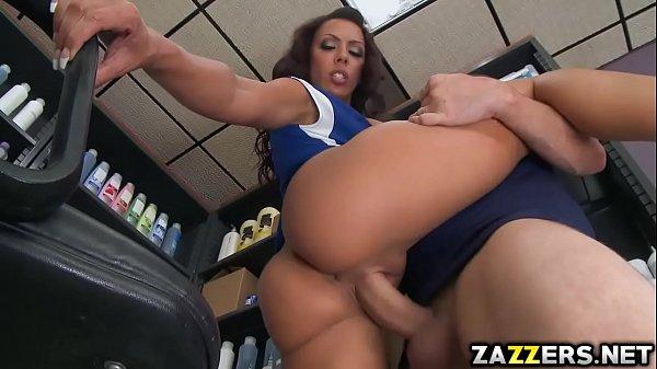 Rachel Starr gets fuck standing position one leg up