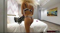 Tiny tits blonde teen Elizabeth Jolie pounded by her stepbro