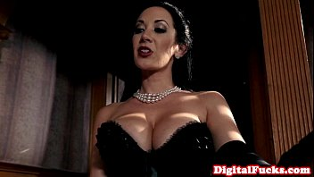 Glamorous lingerie babe doggystyled at party 10 min