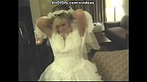 Girl in wedding dress sucks a cock and strips 6 min