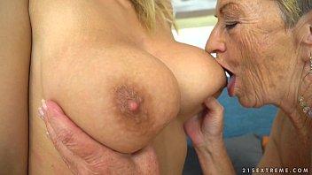 Busty granny and her y. lesbian friend - Malya, Aida Swinger