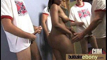 Ebony Gang bang and CUM FEEDING 11