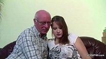 German 18yr old Teeny Seduce to Fuck by old Grandpa