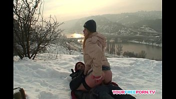 Blonde wife warms stranger's cock in the snow 26 min