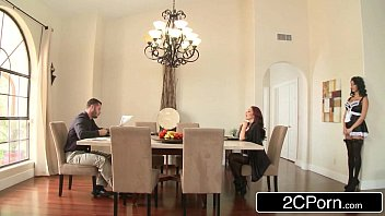 Trophy Wife Monique Alexander Bent Over the Breakfast Table and Fucked