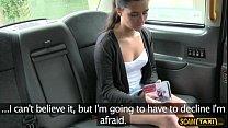 Amazing teen deepthroats in the taxi