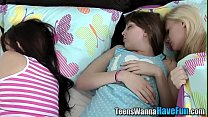 Facialized teen banged