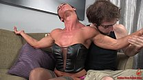 Sexy Muscular Girl and the Skinny Dude 9 min