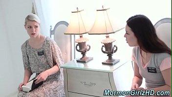 Tied up mormon gets oral 7 min