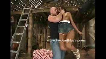 Indonesian slut c. and humiliated by master in v. sex in filthy barn