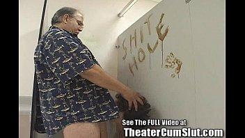 Kassy Sucks Cock in Bookstore Men's Room For Cumshots 4 min
