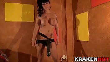 Big Tits kinky Brunette Playing with Black Cock in a homemade Crazy Casting 12 min