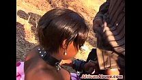 Busty Ebony African Slave Outdoor Missionary