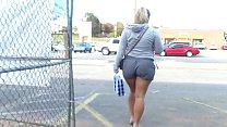 Candid Blonde Thick Legs