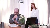 Fervent schoolgirl was seduced and poked by her aged mentor