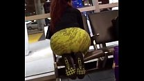 Candid - Redbone in Colorfull Leggings with Thick Booty 15 sec