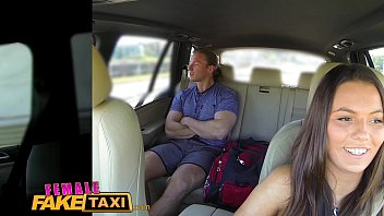 Female Fake Taxi Businessman strikes sexual deal with horny driver 12 min