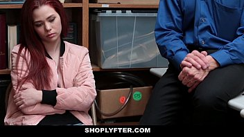 Shoplyfter - Teen (Cassidy Michaels) Strip Searched & Fucked by Creepy Man