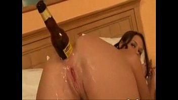 Girl anal masturbate with bottle and swatter - SWEETGIRLCAM.COM 10 min