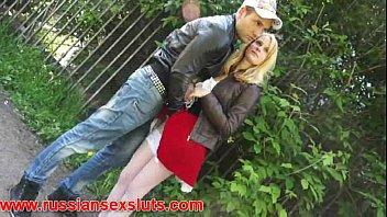 Blonde teen Yani picks up a guy in park for sex 10 min