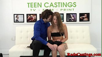 Rough casting audition for real teen babe