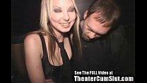 Cum Slut Zoe Gets Jizz Coated & Creampied In Public Porn Theater 4 min
