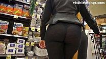 See-through leggings visible thong booty 25 62 sec