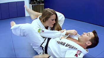 Horny Karate students fucks with her trainer after a good karate session 27 min