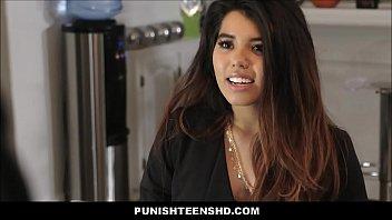 Latina Teen Leila Severine Punish Fucked 8 min