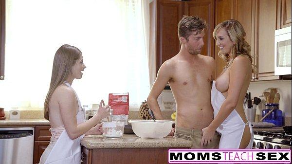 MomsTeachSex - Horny Mom Tricks Teen Into Hot Threeway 8 min