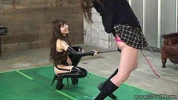 Japanese Femdom Emiru Whip BDSM Her Slave 2 min