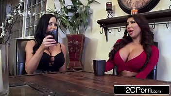 Twin Silicone Beauties Sharing Lucky Cock 8 min