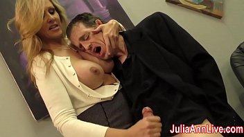 Sexy Milf Julia Ann Milks Him on Date Night! 7 min