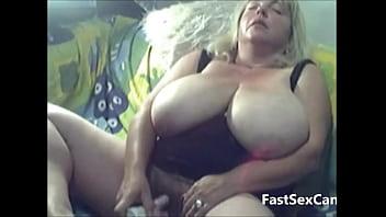 Blonde Granny Big Boobs masturbating 11 min