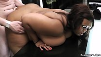 Office meeting with ebony leads to fuck for job 6 min
