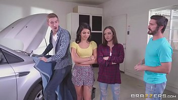 Brazzers - Step sisters share cock behind dads back 7 min